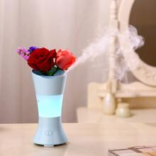 深圳格先者跨境专供花仙子香薰机家用花瓶超声波加香机七彩夜灯扩香机可插花