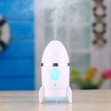 深圳格先者源头厂家火箭加湿器家用USB迷你加湿机夜灯空气净化器创意礼品图片