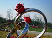 七夕情人节主题牛栏织女景观雕塑图