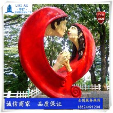 爱情雕塑小品-人物亲吻雕塑定制-小品情侣雕塑