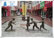 民俗老鹰捉小鸡雕塑公园游戏小品摆件
