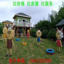 沭阳稻草景观雕塑制作厂家图片展览稻草景观雕塑定做景区公园农家乐游乐场