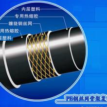 钢丝网骨架复合管西安胜煌专业批发pe钢丝网骨架塑料复合管图片