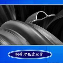 钢带波纹管钢带增强管塑钢缠绕管钢带增强螺旋波纹管钢带增强图片