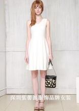 简洁华丽版女裙品牌折扣女装尾货货源紫馨源大量走份
