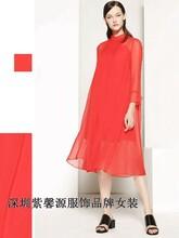 深圳高档棉麻桑蚕丝面料品牌折扣女装尾货货源大量批发