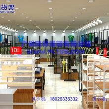 专业生产服装、包包、鞋子货架图片