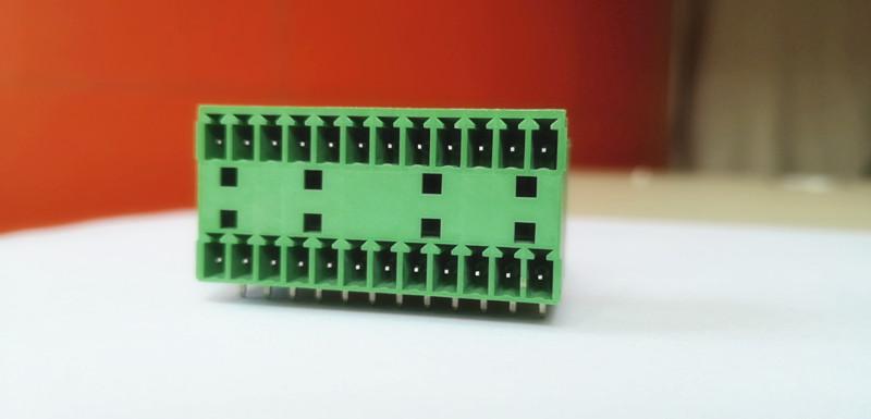 3.81mm配电箱公母对插双层厂家阻燃PCB插拔式接线端子