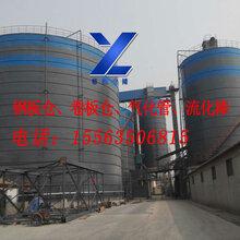 供应聊城裕隆钢板仓,YL-20辽宁钢板库,气化管流化棒价格低,效果好