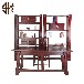 941红木家具商城-中式东非酸枝祥云书桌+祥云书柜四件套
