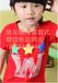 3元童裝批發陜西咸陽中大童外貿童T恤全棉條紋衫短袖