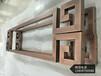 太原别墅铜门专用纯铜雕刻拉手浮雕花纹