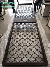 吉林酒店異形紅古銅不銹鋼屏風的應用與安裝圖片