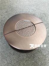 水鍍拉絲古銅鋁板雕花拉手、中式仿古雙開門拉手圖片