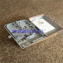 光纖分纖箱光分路器箱16芯分線箱插片式1分16分光盒圖片