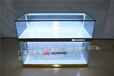 临汾新款木纹靠墙抽拉式oppovivo华为三星手机柜台玻璃前开门展示柜