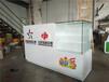 合肥中国体育彩票柜台带玻璃展示柜销售柜手机收银柜台福利彩票收银台