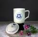 高档骨瓷茶杯陶瓷水杯带盖碟客厅喝茶杯子商务杯创意杯星座杯