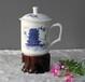 商务礼品陶瓷茶杯高档骨瓷茶杯手绘青花茶杯活动赠品促销礼品