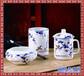 陶瓷笔筒景德镇陶瓷烟灰缸办公用品陶瓷茶杯陶瓷三件套