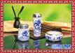 开业礼品办公礼品三件套景德镇陶瓷茶具中式陶瓷烟灰缸茶杯笔筒