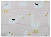 滿底印粉底白鴨-竹棉雙層紗布