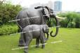 玻璃钢仿真大象摆件大型雕塑工艺品装饰