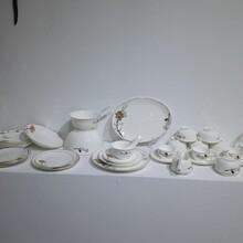 景德镇骨瓷釉下彩纯白色高档餐具套餐碗盘套餐