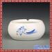 實用歐式復古青花陶瓷創意個性煙灰缸大號客廳辦公室