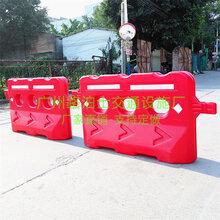 广州全新料中三孔水马塑料套筒PE材质交通施工围闭注水围栏护栏