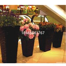 玻璃钢花盆休闲椅花艺插花