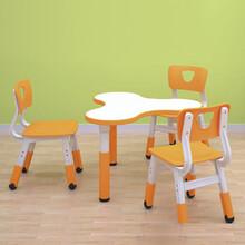 山东亚恒YH-2Q10D幼儿园塑料桌椅幼儿课桌凳儿童歺椅图片