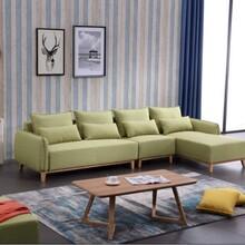 布艺沙发组合布沙发客厅家具转角现代简约休闲北欧沙发可拆洗整装
