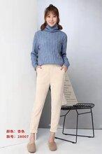 商场常见的女装品牌佳妮斯折扣安哥拉羊绒打底毛裤专柜货源图片