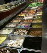风冷自助餐菜品展示台,马鞍山火锅店敞口冰柜,徽点冷柜厂家直销