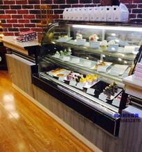 肇庆烘焙店保鲜柜,蛋糕柜弧形后开门,1.5米三层风冷西点柜