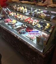 加热丝防雾蛋糕柜,定做欧式弧形西点柜,攀枝花烘焙冷藏柜