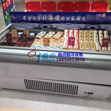 敞开式没有门速冻柜,酸奶鲜奶保鲜展示柜,徽点定做超市冷柜