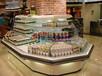 许昌定做生鲜冷柜厂家,酸奶饮料冷藏展示柜,徽点八角环岛柜