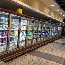 冷藏玻璃門風幕柜,晉中水果店展示柜,商超立風柜徽點廠家定做