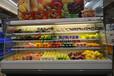 圆弧形水果风幕柜,雅安水果蔬菜超市冷藏展示柜哪里有卖