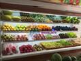水果店保鲜风幕柜,广元风冷生鲜冷柜,超市蔬菜水果展示柜图片