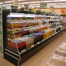 超市冷藏保鲜风幕柜,潮州喷雾展示火锅柜,串串香自助选菜柜