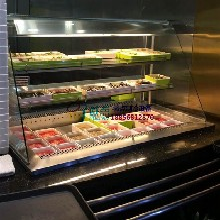川西坝子火锅菜品柜,自选火锅店冷藏柜,东莞后补式喷雾冷柜图片