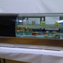 蛋糕卷保鲜冷藏柜,小型台式寿司冰柜,鸭脖熟食店展示柜