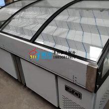 带玻璃门水果捞冷藏柜,昭通自助烤肉点菜柜,分层直冷选菜柜2米