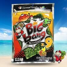 泰国进口小老板bigbang大片紫菜烤海苔54g多口味即食休闲零食品