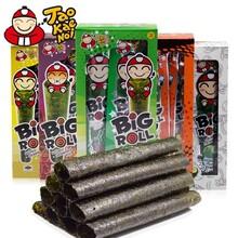 泰国进口休闲零食小老板榴莲海苔BIG盒装32.4g烤紫菜卷食品