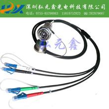 厂家直销D38999/J599光纤连接器/J599A8芯光纤连接器插座图片