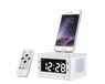 新款歌瑞泰T8酒店鬧鐘藍牙音箱USB播放超大LCD顯示屏電子鬧鐘